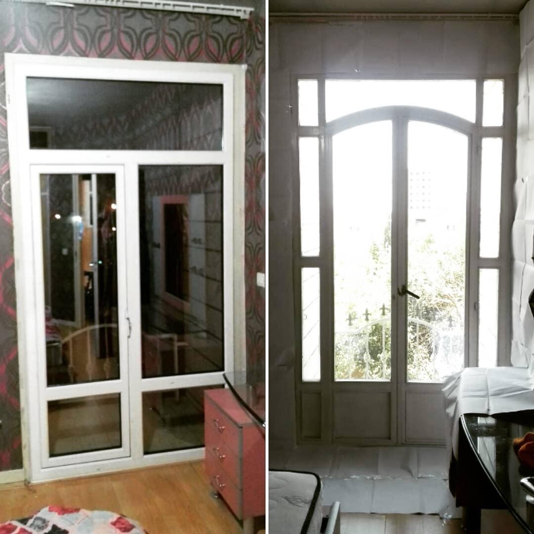 تعویض پنجره دو جداره Upvc