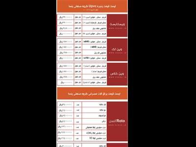 جدیدترین لیست قیمت پنجره دوجداره پنسا